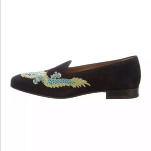 GUCCI NEW SUEDE DRAGON EMBROIDERED 7(G) 8.5/9(US)